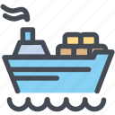 cargo, delivery, logistics, packages, shipdelivery, shipping icon