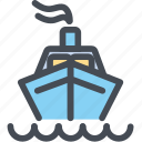 cargo, delivery, logistics, packages, shipdeliveryfront, shipping icon