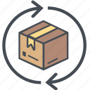 cargo, delivery, logistics, packages, rotateboxperspective, shipping icon