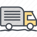 cargo, delivery, logistics, packages, shipping, truck, truckhardroad icon