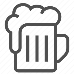 alcohol, beer, booze, drink, ethanol, foam, glass icon