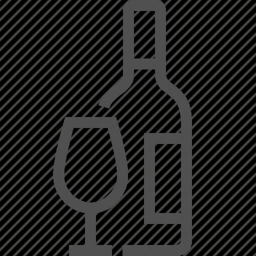 alcohol, booze, bottle, brandy, cognac, drink, glass icon