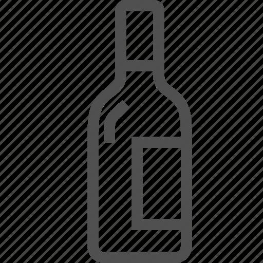 alcohol, beverage, booze, bottle, drink, ethanol, wine icon