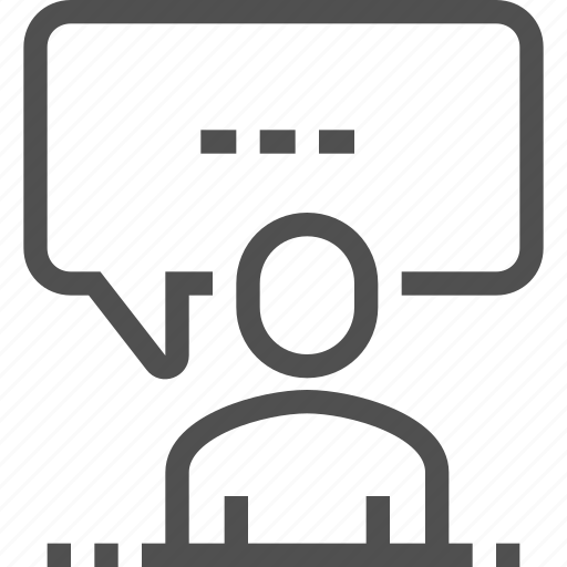 bubble, chat, communication, man, speaker, speech icon