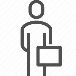 boss, briefcase, business, businessman, man, person, user icon