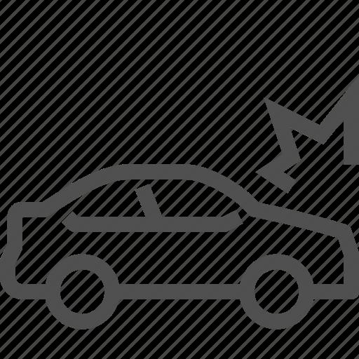 accident, auto, bump, car, collision, crash, damaged icon