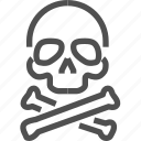 addiction, bones, danger, death, drugs, narcotic, skull icon