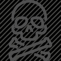 addiction, bones, danger, death, drugs, narcotic, skull icon