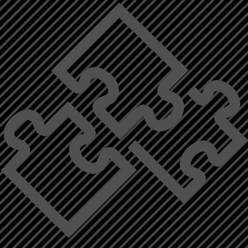 brainteaser, conundrum, game, piece, play, puzzle, unite icon