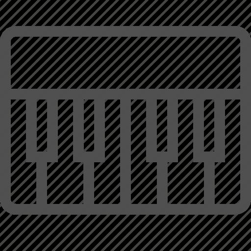 audio, instrument, keyboard, keys, piano, pianoforte, white icon