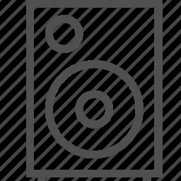 column, equipment, loudspeaker, media, music, player, stereo icon