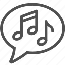 audio, melody, music, notes, song, sound, voice icon