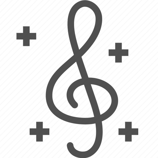 clef, instrument, melody, music, musical, note, treble icon