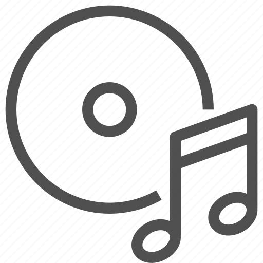 audio, disk, melody, music, notes, play, sound icon