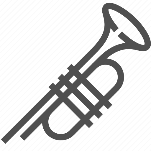 blow, instrument, music, musical, tool, trumpet, wind icon