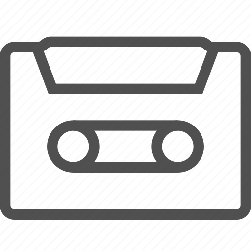 audio, cassette, media, music, old fashioned, play, sound icon