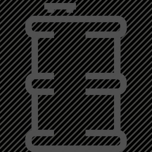 barrel, cask, fuel, oil, petrol, roll, tank icon