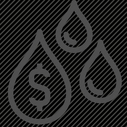 burse, drop, exchange, market, oil, stock icon