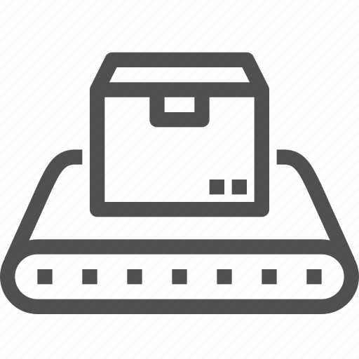 belt, conveyer, delivery, package, parcels, shipping icon