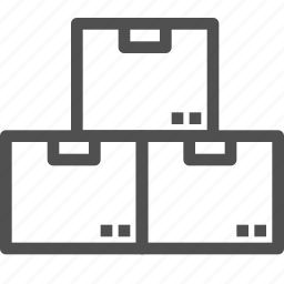 box, cargo, delivery, package, parcels, shipping icon