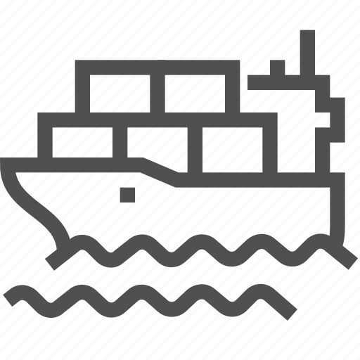 delivery, package, parcels, sea, ship, shipping, transportation icon