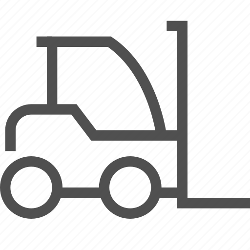 cart, delivery, forklift, lift, load, loader, shipping icon