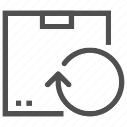 arrow, box, cargo, delivery, package, turn icon