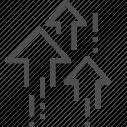 arrow, growth, height, increase, rise, upsurge icon