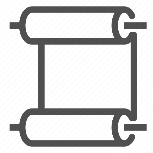 document, paper, roll, scroll icon