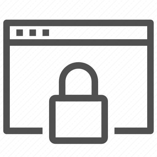 blocked, lock, protection, security, site, web icon