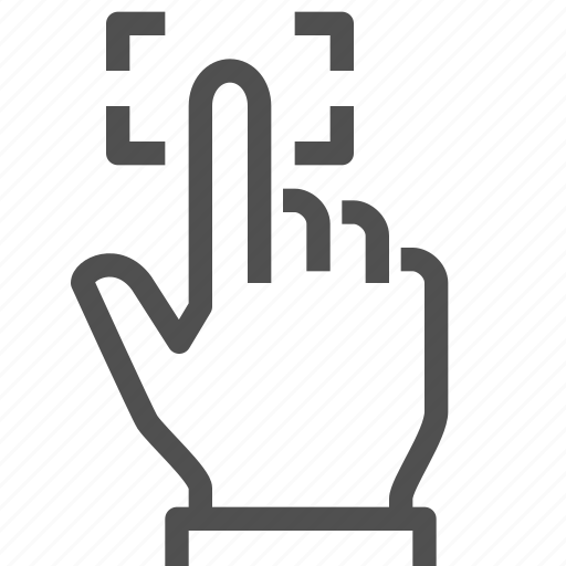 finger, hand, imprint, password, recognition, touch icon