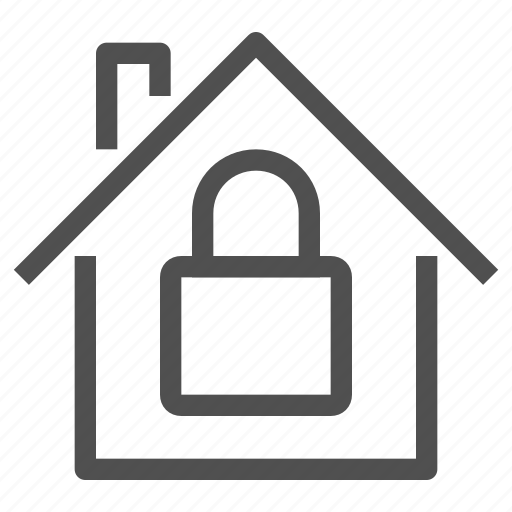estate, home, house, protection, safe, security, signaling icon
