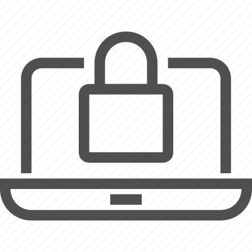computer, device, lock, protection, safe, secure, system icon