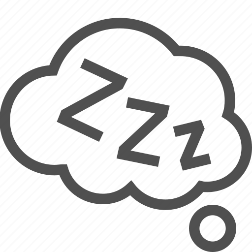 cloud, dream, night, relaxation, rest, sleep, zzz icon