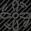 air, climate, conditioner, control, fan, smarthome, vent icon