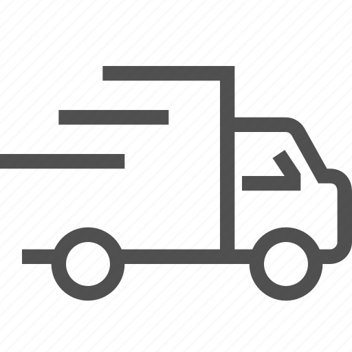 auto, delivery, express, fast, speed, truck, vehicle icon