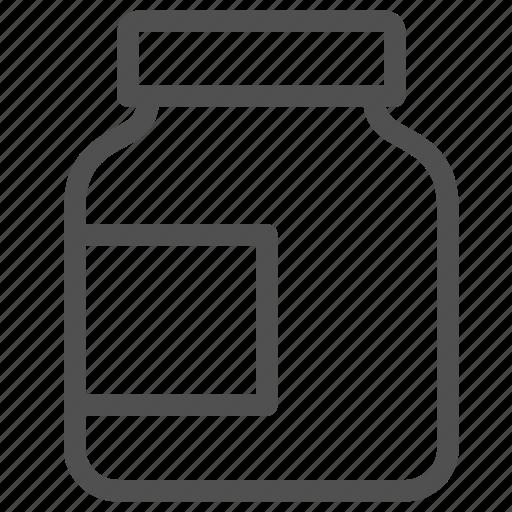 bcaa, bottle, jar, protein, sports, supplement, vitamin icon