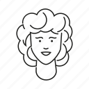 avatar, curly hair, face, head, people, person, woman