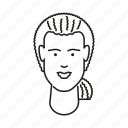 avatar, face, head, latin, people, person, woman icon