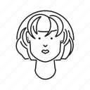 avatar, face, girl, head, people, person, woman icon