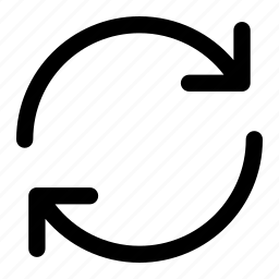 arrows, exchange, refresh, shape, sync icon