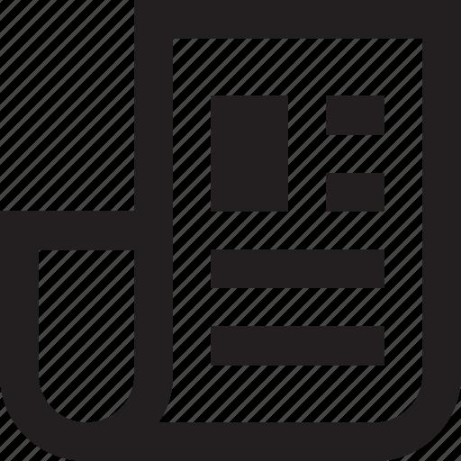 communication, news, newspaper, text icon