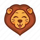 emoticon, cute, lion, tongue, funny