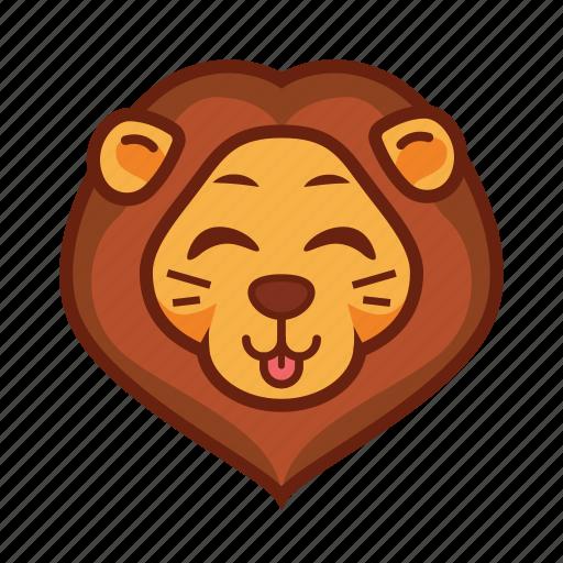 Картинки смайлики львы