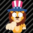 army, choose, emoji, emoticon, lion, smiley, sticker icon