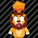emoji, emoticon, explosion, lion, mindblown, smiley, sticker