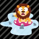 danger, emoji, emoticon, lion, shark, smiley, sticker icon