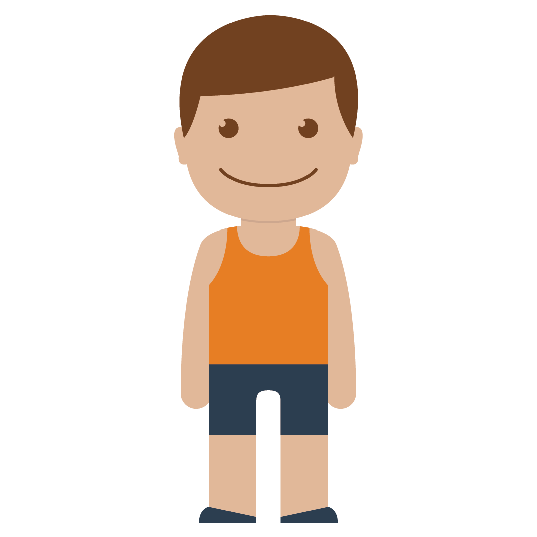 boy, child, kid, male, man, orange, person icon
