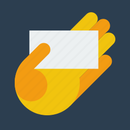 bc, business card, hand icon