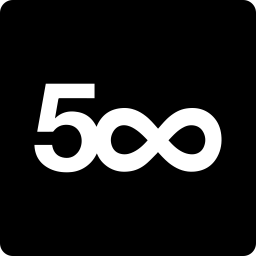 500, media, pixel, social, square icon